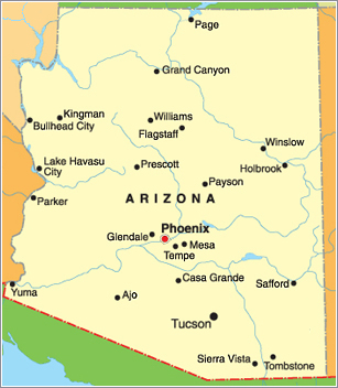 Map Of East Arizona.Arizona Care Planning Council Members Medical Equipment